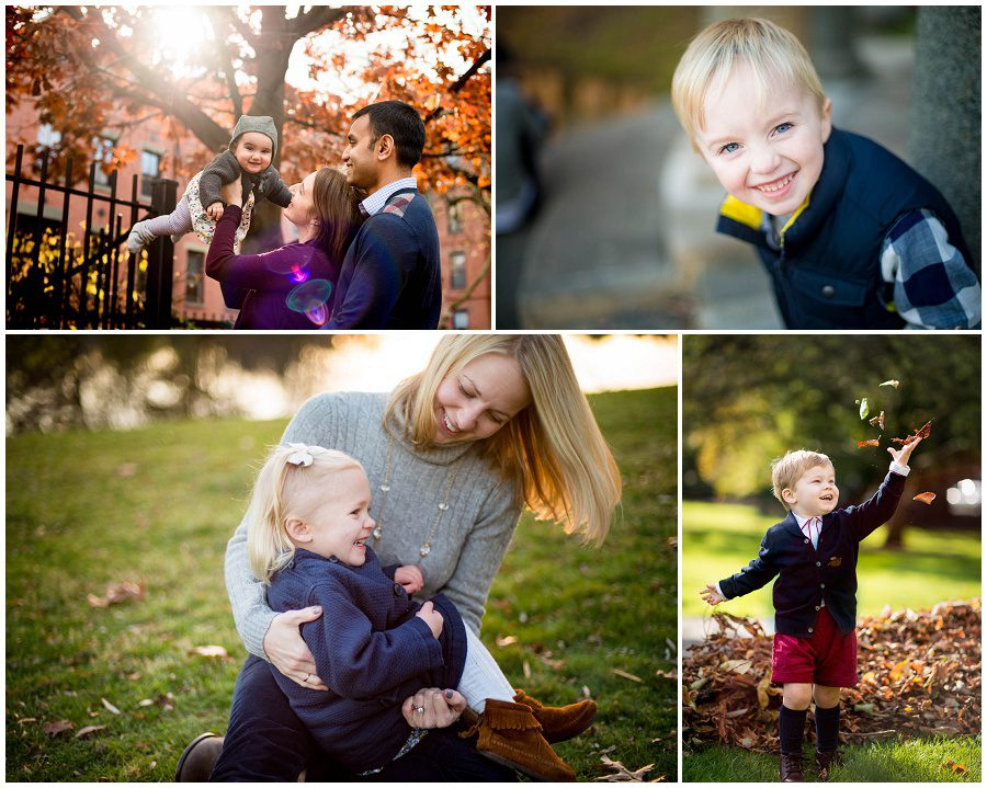 families dressed for fall family sessions