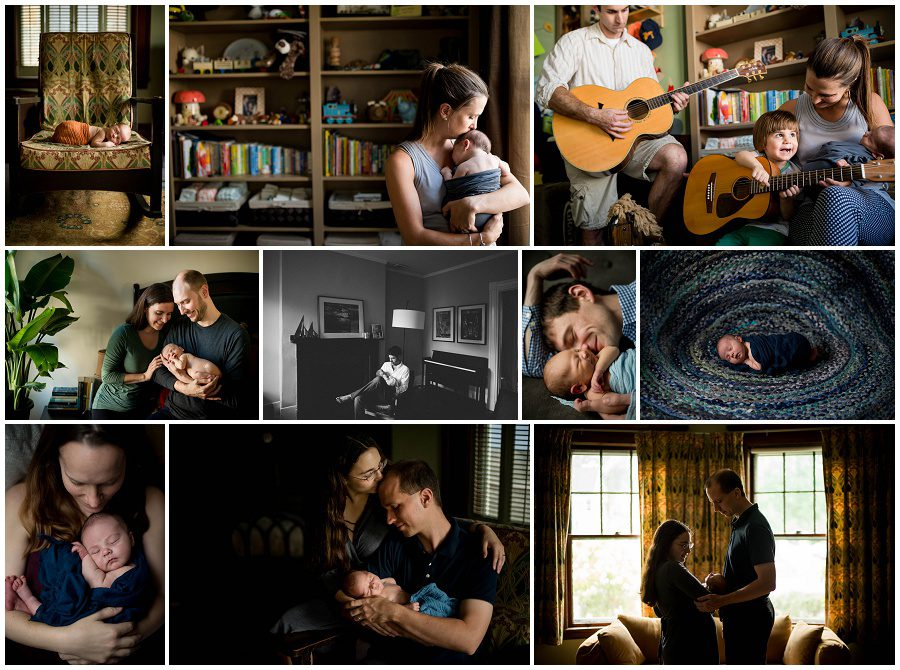 Darker New England Homes lifestyle at home newborn session