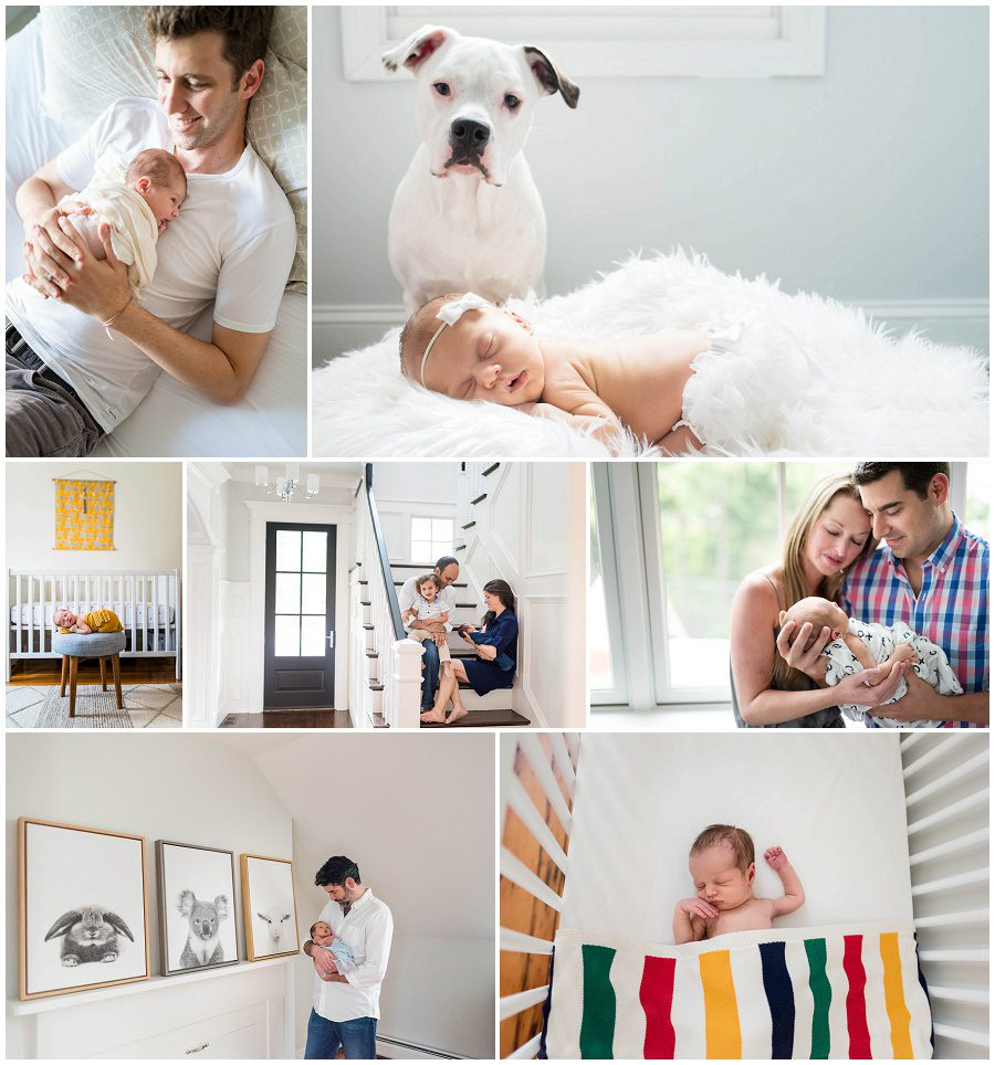 bright and airy homes for lifestyle newborn sessions in Boston