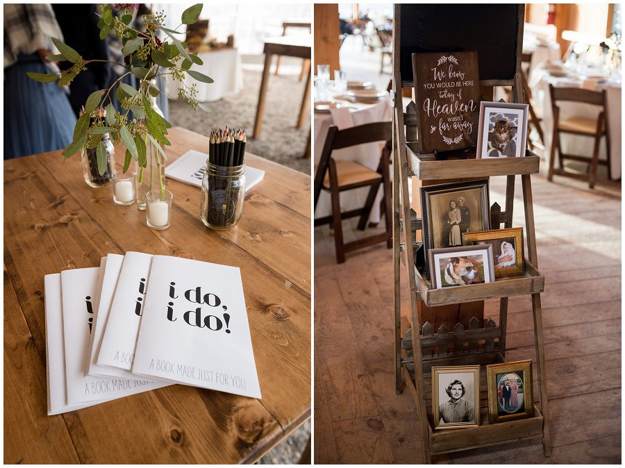 wedding details to inspire you including programs and in memorium table