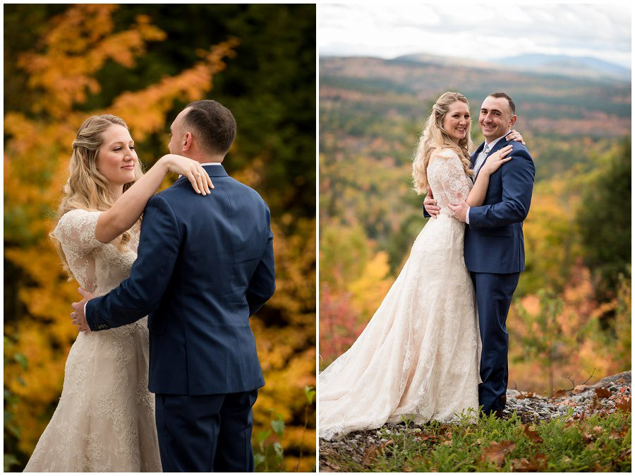 First look moment at Granite Ridge Estate and Barn in Norway Maine