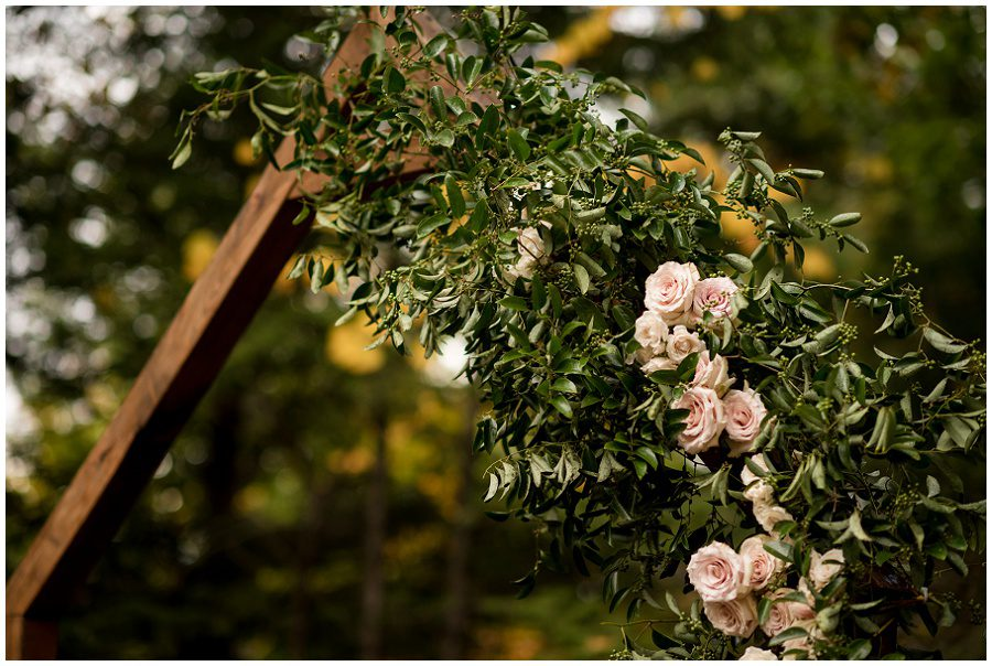 Floral Arbor at ceremony space