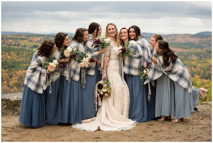Fall bridal party looks and ideas in New England