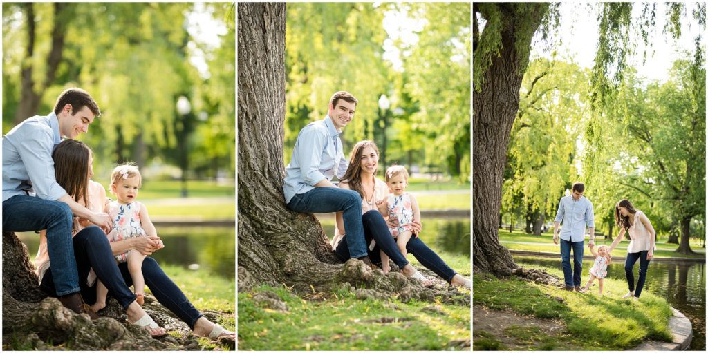Weeping Willow Trees in the Boston Public Gardens family photography