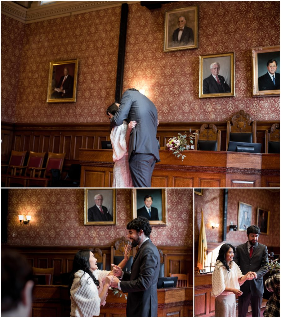Saying I do after civil ceremony in Cambridge