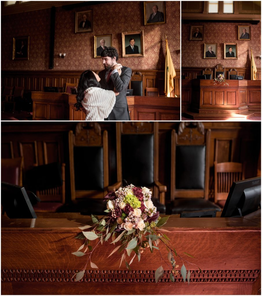 cambridge was the backdrop to this elopement. Flowers in the bouquet were from Trader Joes
