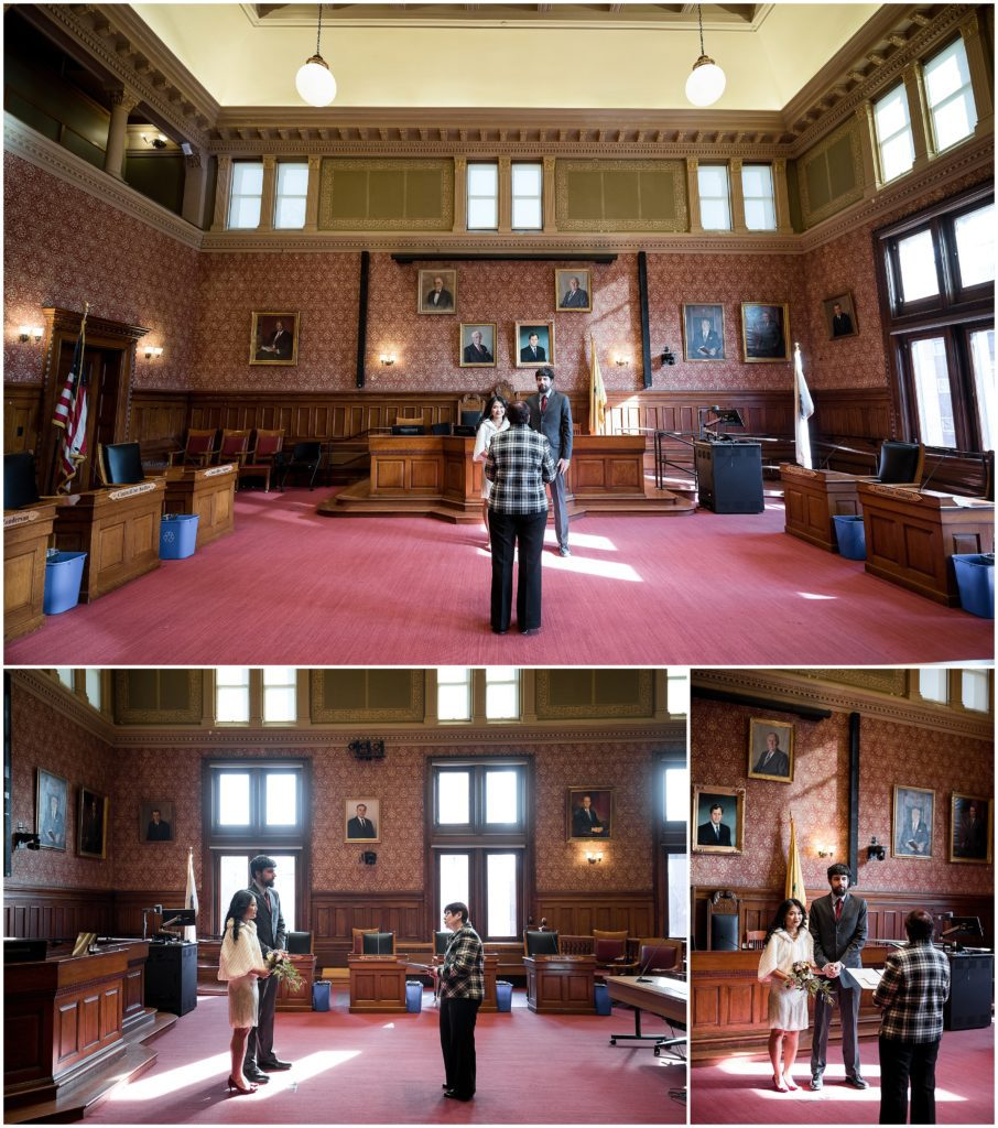 The Sullivan Chamber was the room we chose for the cambridge city hall civil ceremony and elopement