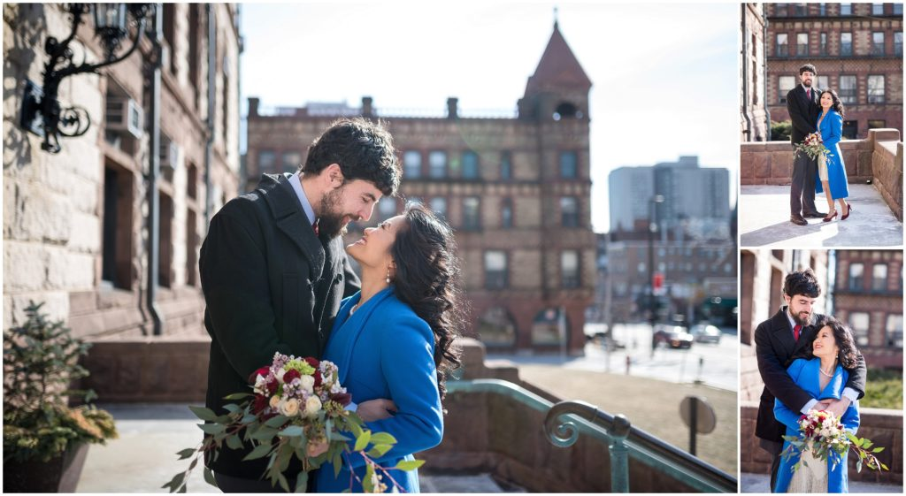 Some more wedding portraits on the front steps of Cambridge City Hall post ceremony