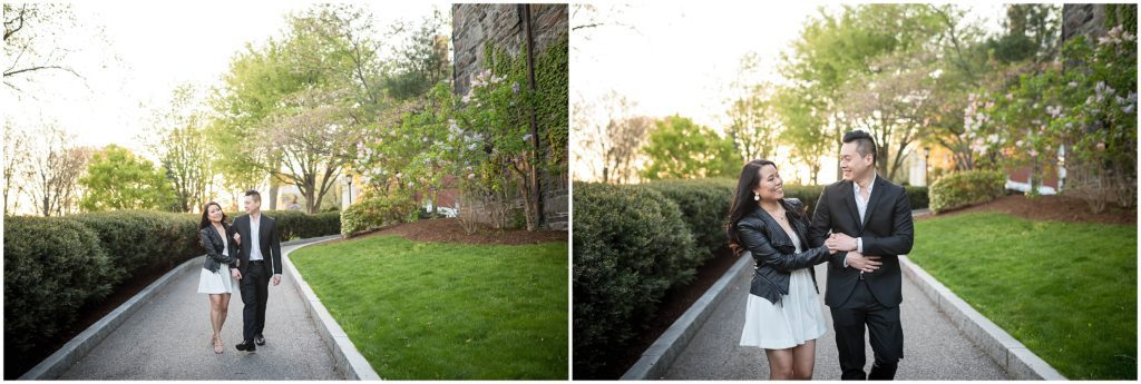 Boston Engagement session in Tufts during springtime