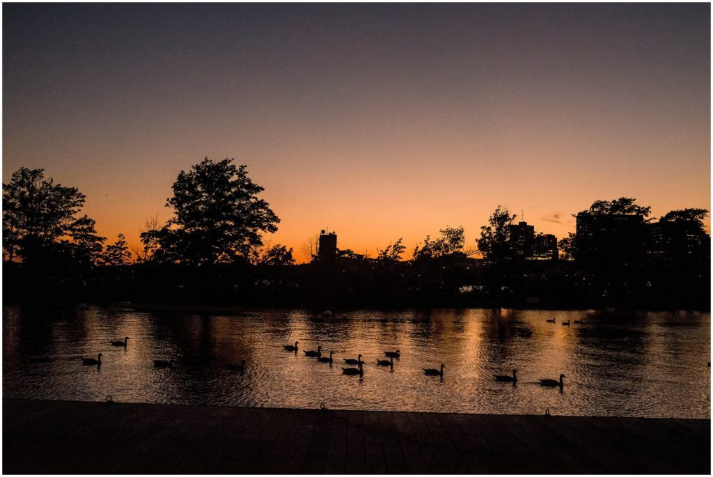 Sunset on the Charles River