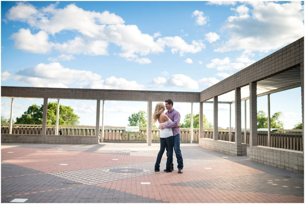 Boston engagement session at Tufts