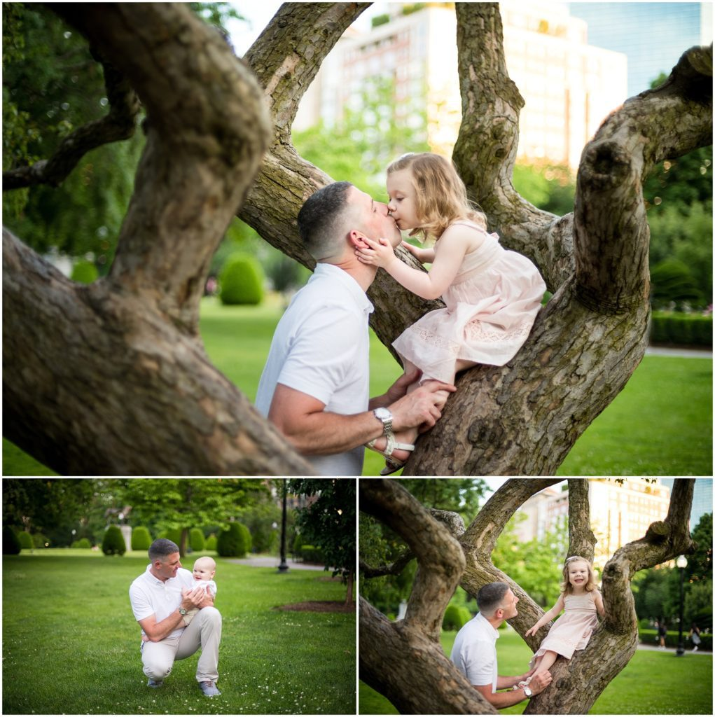 Daddy and daughter at Boston Public Garden