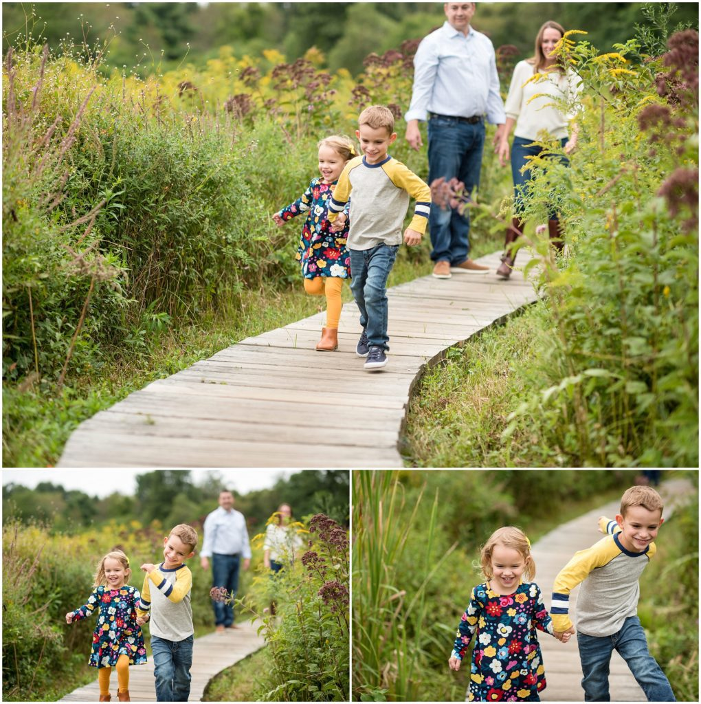 Belmont Family session at a field