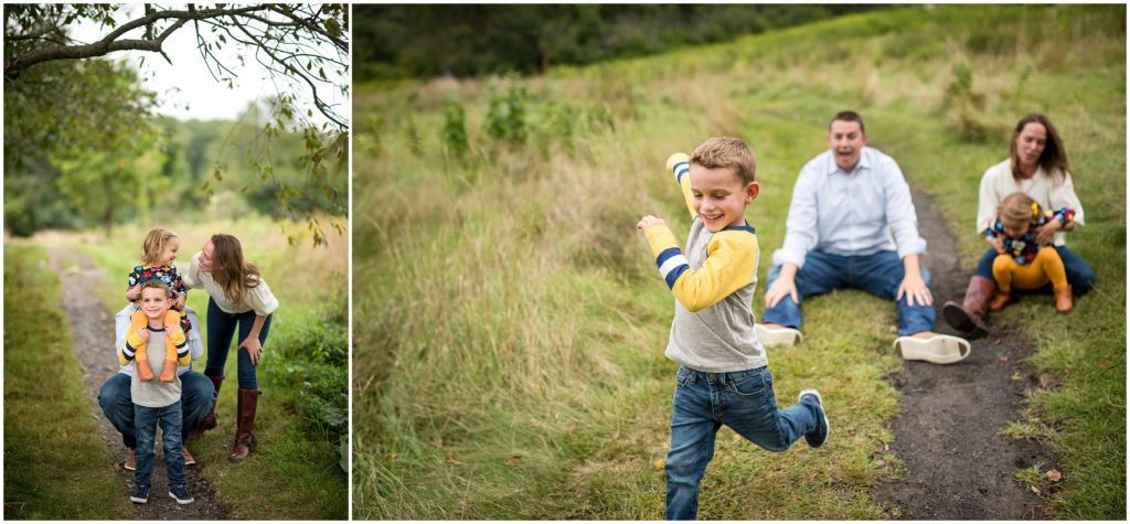 Family play photography session in Belmont