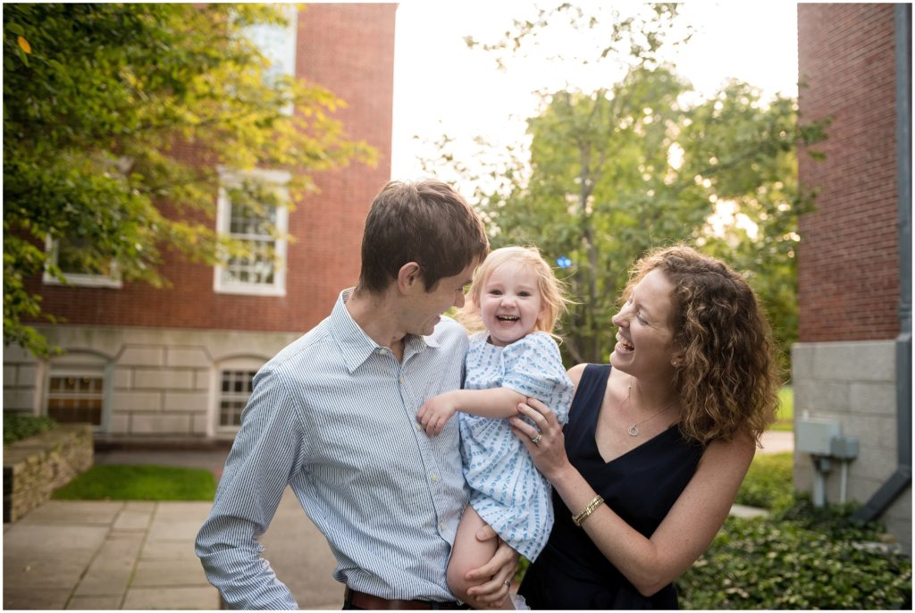 parents and child in Harvard