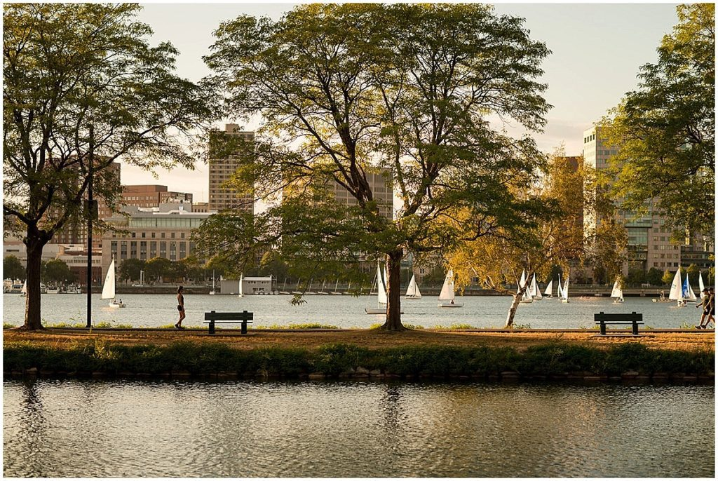Charles River where the surprise proposal took place