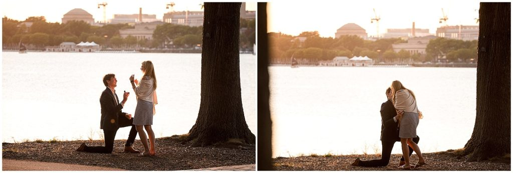Surprise Proposal on the Esplanade Charles River Engagement photo