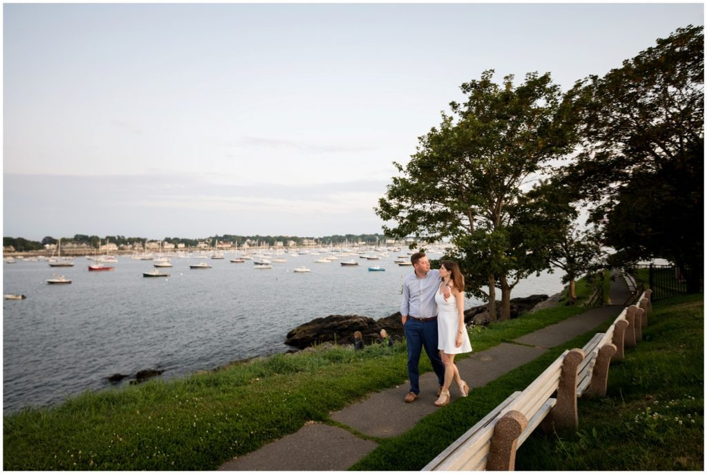 Walking to Fort Sewall in Marblehead, MA