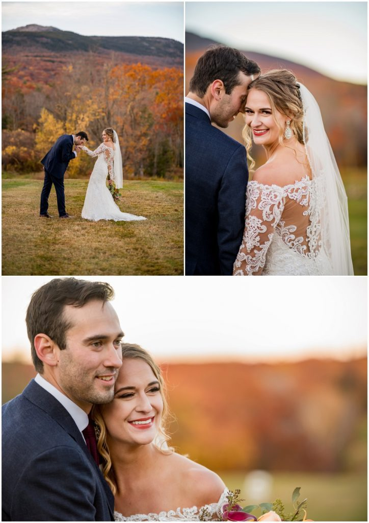 Couple portrait outdoor in the fall in NH