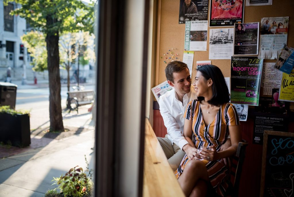 1369 coffee shop engagement session photo