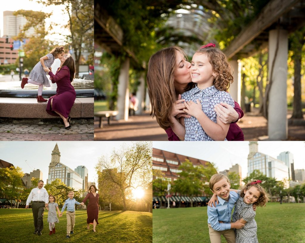 Christopher Columbus park family photography session | suggested Locations for photoshoots