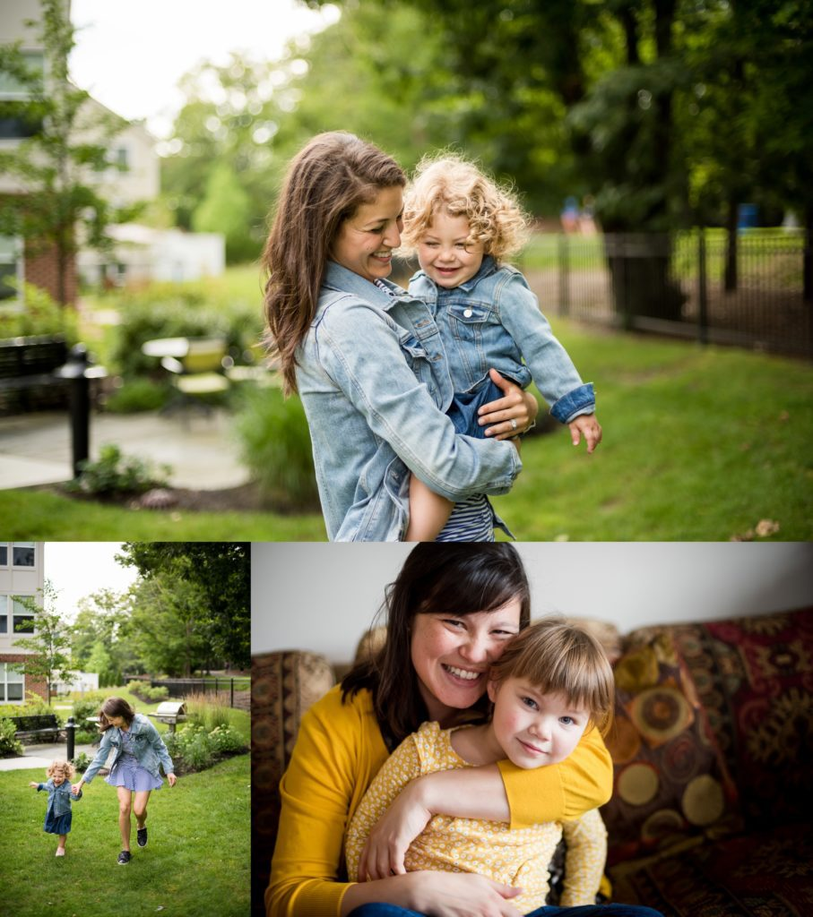 Family session at home lifestyle photography Boston