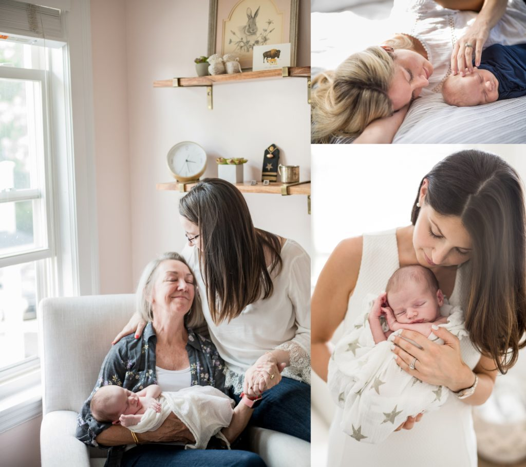 Newborn session at home lifestyle photography Boston