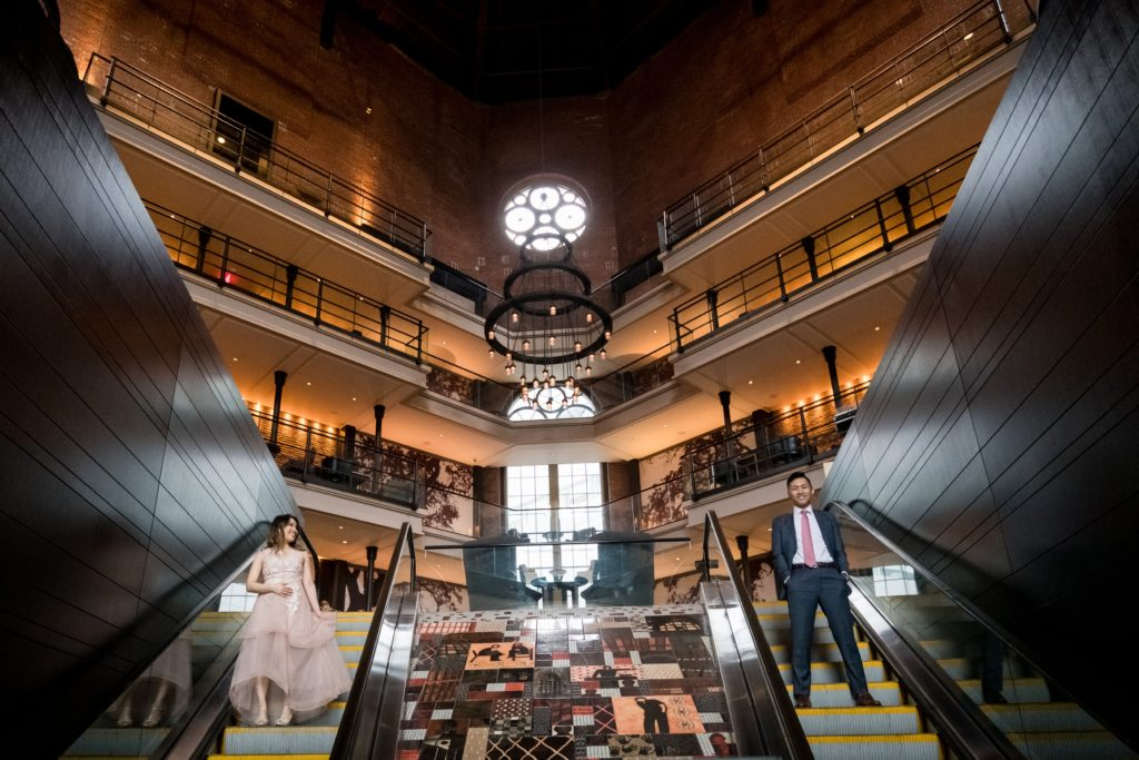 The Liberty hotel for an engagement session in Boston