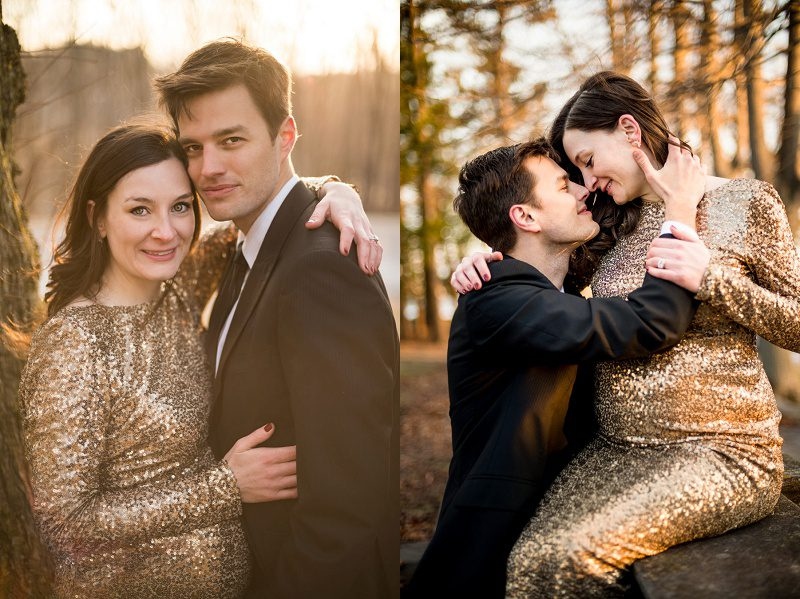 Couple photo during maternity session