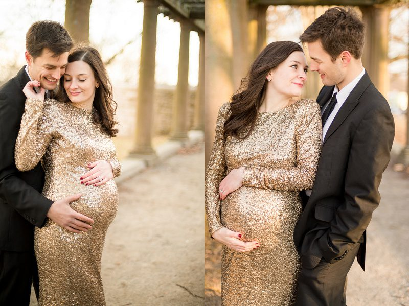 Boston Winter Maternity photography session in Larz Anderson Park