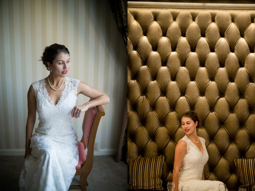 Prep photos in the Langham Hotel for a wedding