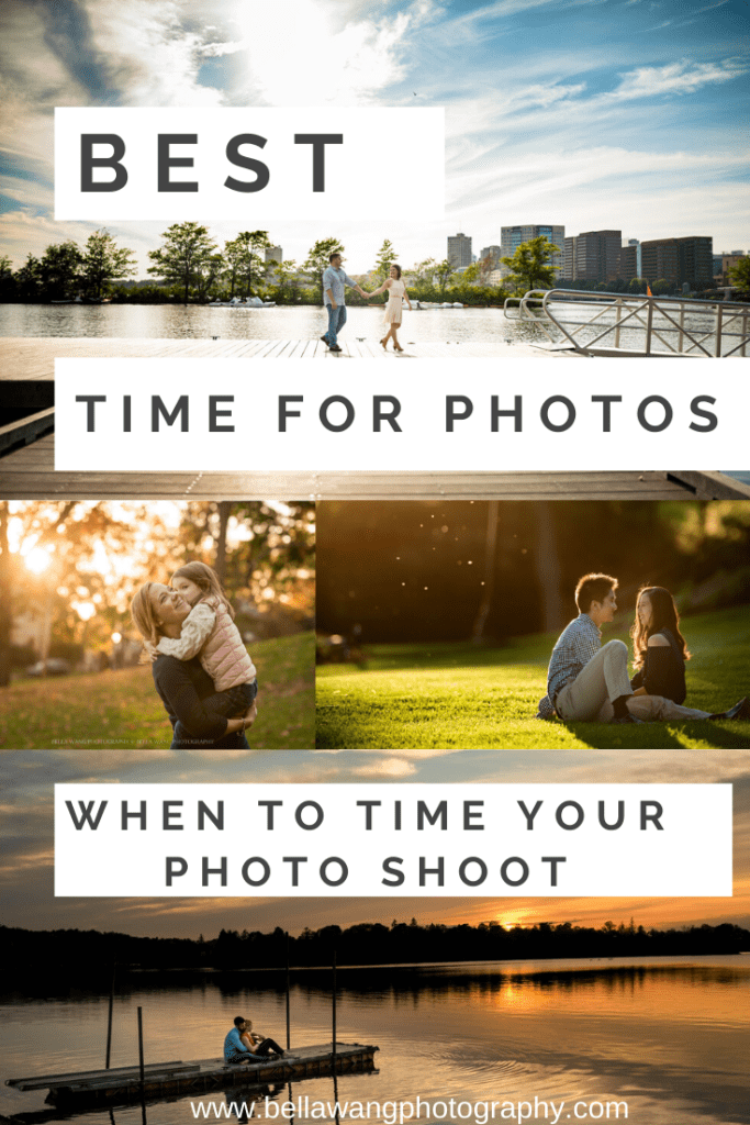 Best time of day to do photoshoot, family photography, engagement and wedding portraits.