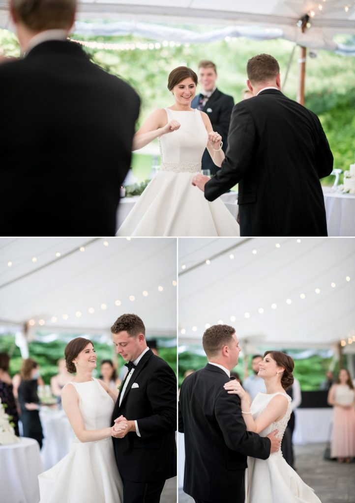 First dance photos of the couple