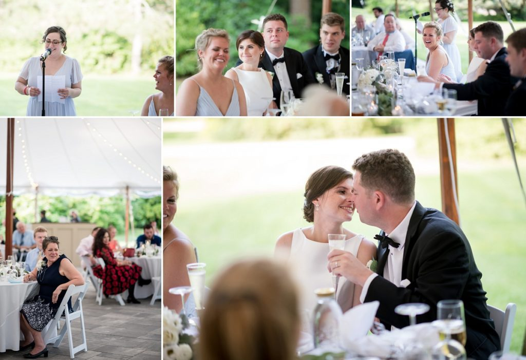 Toasts and speeches at wedding reception