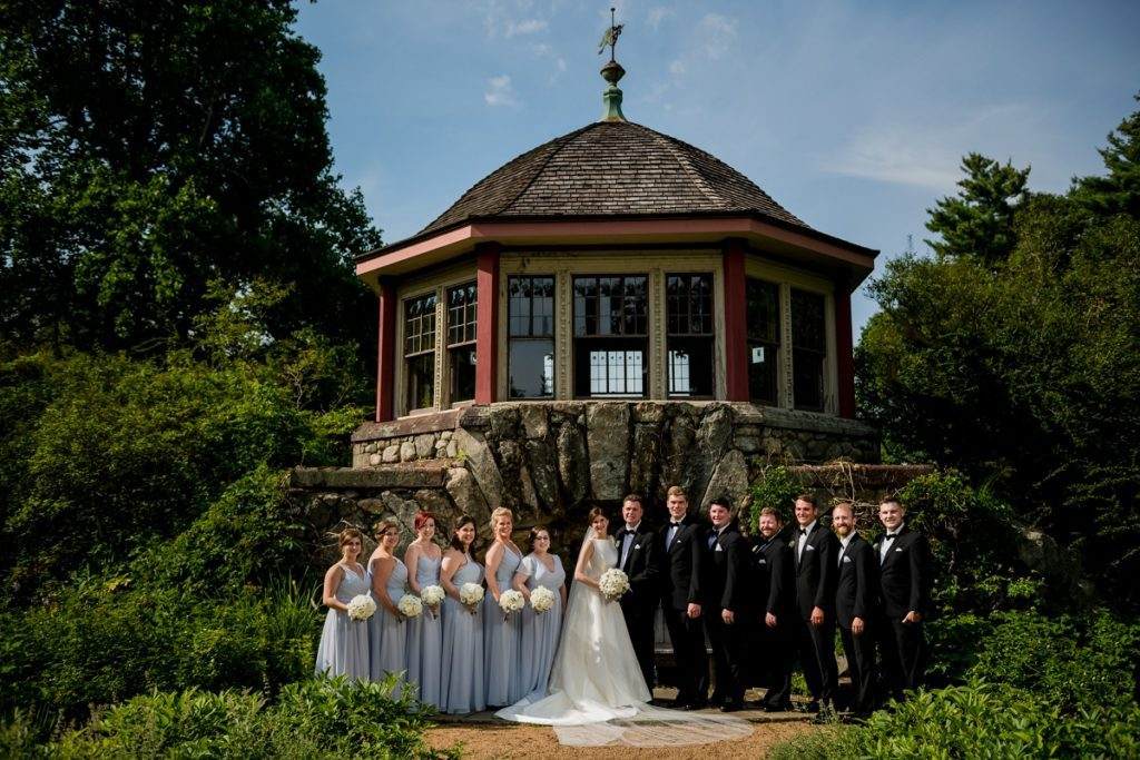 Wedding party at the Estate at Moraine Farm