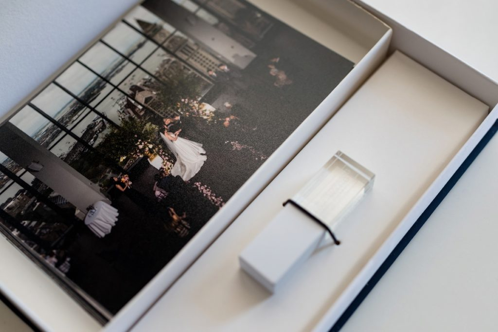 USB delivery of wedding images and photography