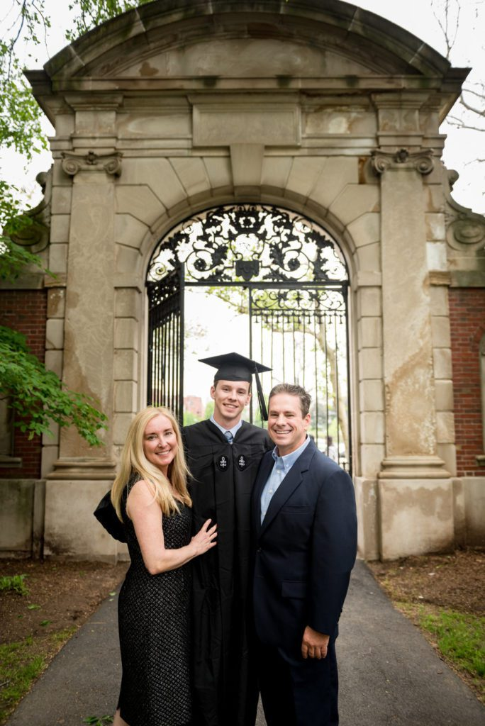Formal Family pictures on graduation day at Harvard