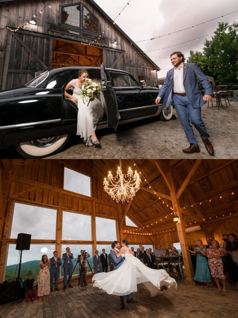 Introductions at the wedding reception Maine Barn Wedding Venue