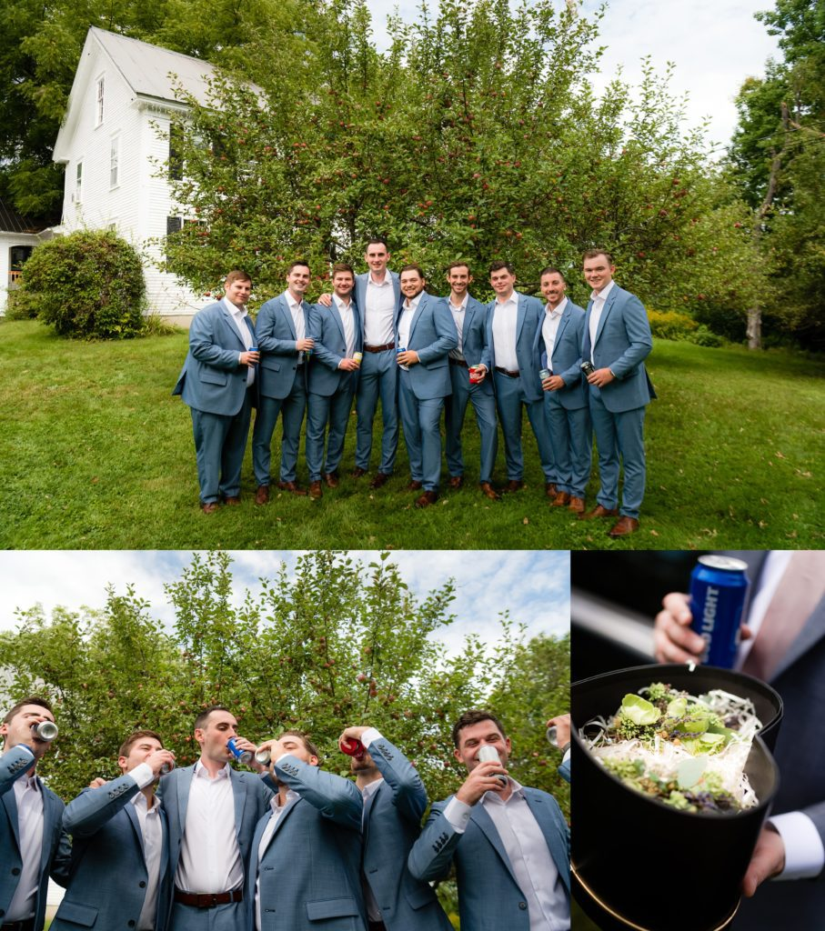 Cheers to the groom