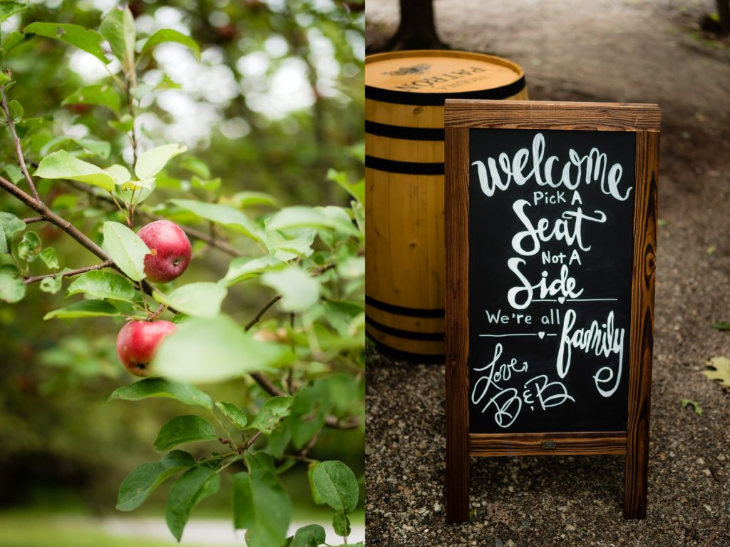 Details of the wedding day at this Maine Barn Wedding Venue